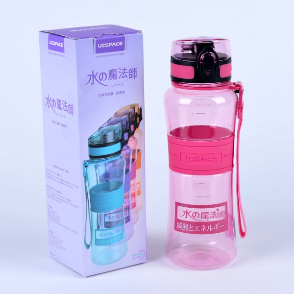 UZSPACE MAGIC ENERGY ION BOTTLE 550ML PINK
